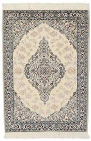 Nain 9La Rug 100X146 Authentic  Oriental Handknotted Dark Grey/Light Brown (Wool/Silk, Persia/Iran)