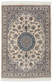 Nain 9La Rug 99X149 Authentic  Oriental Handknotted Black/Dark Grey (Wool/Silk, Persia/Iran)