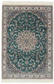 Nain 9La Rug 94X140 Authentic  Oriental Handknotted Black/Dark Grey (Wool/Silk, Persia/Iran)