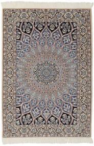 Nain 9La Rug 95X146 Authentic  Oriental Handknotted Black/Dark Brown (Wool/Silk, Persia/Iran)
