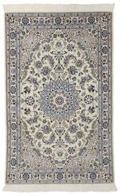 Nain 9La Rug 100X160 Authentic  Oriental Handknotted Dark Grey/Black (Wool/Silk, Persia/Iran)