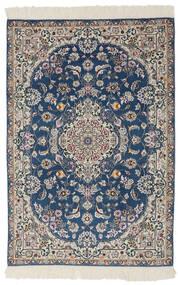 Nain 9La Rug 100X150 Authentic  Oriental Handknotted Black/Dark Grey (Wool/Silk, Persia/Iran)