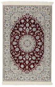 Nain 9La Rug 98X154 Authentic  Oriental Handknotted Black/Light Grey/Dark Grey (Wool/Silk, Persia/Iran)