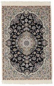 Nain 9La Rug 103X153 Authentic  Oriental Handknotted Black/Dark Grey (Wool/Silk, Persia/Iran)