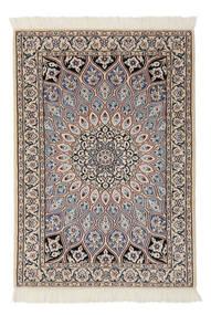 Nain 9La Rug 80X116 Authentic  Oriental Handknotted White/Creme/Dark Grey (Wool/Silk, Persia/Iran)
