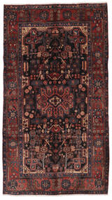 Nahavand Rug 156X280 Authentic Oriental Handknotted Hallway Runner Black/Dark Brown (Wool, Persia/Iran)