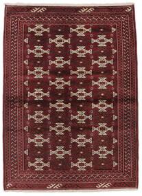 Turkaman Rug 103X139 Authentic  Oriental Handknotted Black/Dark Brown (Wool, Persia/Iran)