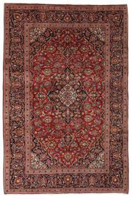 Keshan Rug 198X300 Authentic  Oriental Handknotted Dark Brown/Black (Wool, Persia/Iran)