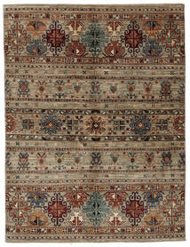 Shabargan Rug 157X206 Authentic  Modern Handknotted Dark Brown/Black (Wool, Afghanistan)