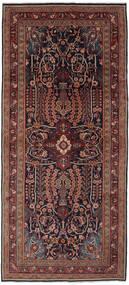 Mahal Rug 133X300 Authentic Oriental Handknotted Hallway Runner Black/Dark Brown (Wool, Persia/Iran)