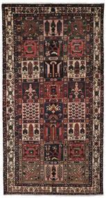 Bakhtiari Rug 157X297 Authentic  Oriental Handknotted Hallway Runner  Black/Dark Brown (Wool, Persia/Iran)
