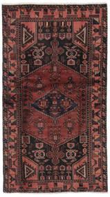 Hamadan Rug 101X186 Authentic  Oriental Handknotted Black/Dark Brown (Wool, Persia/Iran)