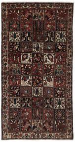 Bakhtiari Rug 161X306 Authentic  Oriental Handknotted Hallway Runner  Black/Dark Brown (Wool, Persia/Iran)
