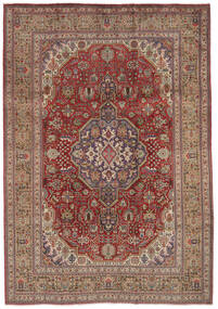 Tabriz Rug 209X297 Authentic  Oriental Handknotted Dark Brown (Wool, Persia/Iran)