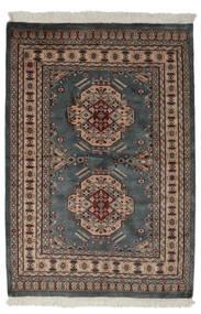 Pakistan Bokhara 2Ply Rug 130X190 Authentic  Oriental Handknotted Black/Dark Brown (Wool, Pakistan)