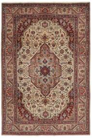 Tabriz Rug 200X300 Authentic  Oriental Handknotted Dark Brown/Black (Wool, Persia/Iran)