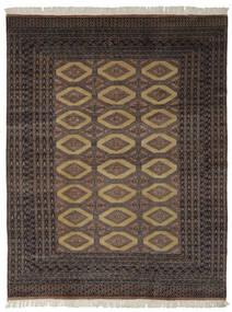 Pakistan Bokhara 2Ply Rug 191X244 Authentic  Oriental Handknotted Black/Dark Brown (Wool, Pakistan)
