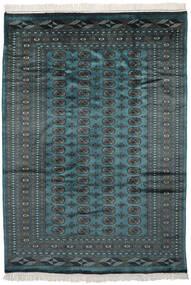 Pakistan Bokhara 2Ply Rug 193X269 Authentic  Oriental Handknotted Black/Dark Turquoise   (Wool, Pakistan)