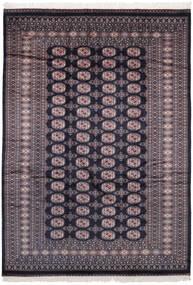 Pakistan Bokhara 2Ply Rug 184X262 Authentic  Oriental Handknotted Black/Dark Brown (Wool, Pakistan)