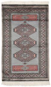 Pakistan Bokhara 2Ply Rug 79X127 Authentic  Oriental Handknotted Black/Dark Brown/Dark Grey (Wool, Pakistan)
