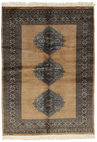 Pakistan Bokhara 3Ply Rug 130X178 Authentic  Oriental Handknotted Black/Brown (Wool, Pakistan)