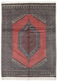 Pakistan Bokhara 2Ply Rug 133X180 Authentic  Oriental Handknotted Black/Crimson Red (Wool, Pakistan)