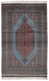 Pakistan Bokhara 2Ply Rug 130X200 Authentic  Oriental Handknotted Black/Dark Brown (Wool, Pakistan)
