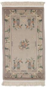 China 90 Line Rug 91X151 Authentic  Oriental Handknotted Dark Brown/Dark Grey (Wool, China)