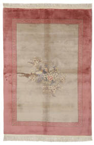 China 90 Line Rug 140X200 Authentic  Oriental Handknotted Dark Red/Brown/Light Brown (Wool, China)