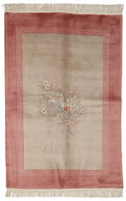 China 90 Line Rug 140X200 Authentic Oriental Handknotted Dark Red/Light Brown/Brown (Wool, China)
