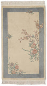 China 90 Line Rug 91X152 Authentic  Oriental Handknotted Light Brown/Dark Grey (Wool, China)