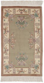 China 90 Line Rug 91X151 Authentic  Oriental Handknotted Dark Brown/Brown (Wool, China)