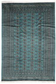 Pakistan Bokhara 2Ply Rug 183X264 Authentic  Oriental Handknotted Dark Turquoise  /Black (Wool, Pakistan)