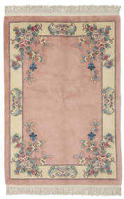 China 90 Line Rug 140X200 Authentic  Oriental Handknotted Dark Red/Light Brown (Wool, China)