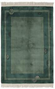 China 90 Line Rug 140X200 Authentic  Oriental Handknotted Black/Dark Green/Dark Green (Wool, China)