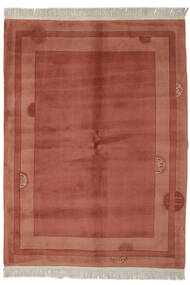 China 90 Line Rug 170X230 Authentic  Oriental Handknotted Dark Brown/Crimson Red (Wool, China)