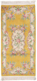 China 90 Line Rug 91X183 Authentic  Oriental Handknotted Hallway Runner  Light Brown/Brown (Wool, China)