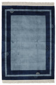 China 90 Line Rug 170X230 Authentic  Oriental Handknotted Dark Blue/Black (Wool, China)