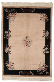 China 90 Line Rug 170X230 Authentic  Oriental Handknotted Brown/Black (Wool, China)