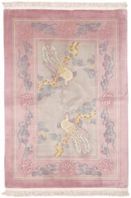 China 90 Line Rug 140X200 Authentic  Oriental Handknotted Brown/Light Pink (Wool, China)