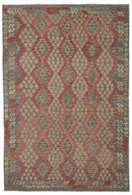Kilim Afghan Old Style Rug 210X303 Authentic  Oriental Handwoven (Wool, Afghanistan)