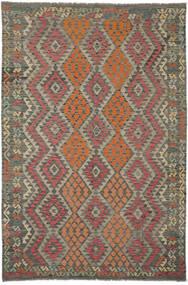 Kilim Afghan Old Style Rug 202X304 Authentic  Oriental Handwoven Dark Brown/Black (Wool, Afghanistan)
