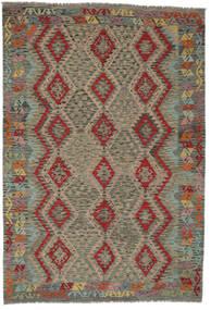 Kilim Afghan Old Style Rug 206X299 Authentic  Oriental Handwoven Dark Green/Dark Brown (Wool, Afghanistan)