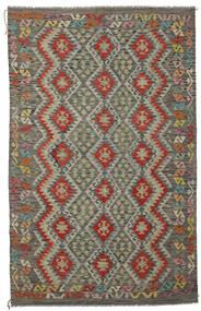 Kilim Afghan Old Style Rug 194X302 Authentic  Oriental Handwoven Dark Green/Black (Wool, Afghanistan)