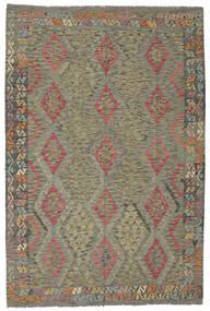 Kilim Afghan Old Style Rug 200X295 Authentic  Oriental Handwoven Dark Green/Dark Brown (Wool, Afghanistan)