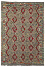 Kilim Afghan Old Style Rug 206X301 Authentic  Oriental Handwoven (Wool, Afghanistan)