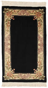 China 90 Line Rug 91X152 Authentic  Oriental Handknotted Black/Brown (Wool, China)