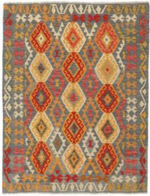 Kilim Afghan Old Style Rug 145X193 Authentic  Oriental Handwoven Dark Green/Dark Brown (Wool, Afghanistan)