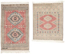 Pakistan Bokhara 2Ply Rug 64X79 Authentic  Oriental Handknotted White/Creme/Light Brown (Wool, Pakistan)
