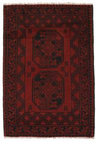 Afghan Rug 70X118 Authentic  Oriental Handknotted Black (Wool, Afghanistan)